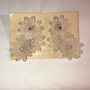 Floral Clip On Earrings